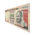 Rupee note with mahatma gandhi cut out of a single Royalty Free Stock Images