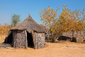 Rural african hut traditional reed and thatch caprivi region namibia Stock Photography