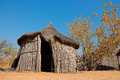 Rural african hut traditional reed and thatch caprivi region namibia Royalty Free Stock Photos