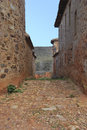 Rural alley in castrillo de los polvazares leon castile and leon spain Royalty Free Stock Photos