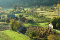 Rural autumn landscape photo of a early in the morning in the northern mountains transylvania Royalty Free Stock Photography