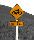 Rural Bicycle Sign Stock Photo