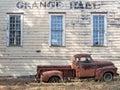 Rural California Grange Hall Royalty Free Stock Photo
