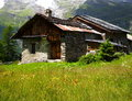 Rural chalet in the alps Royalty Free Stock Image