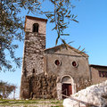 Rural church ancient in segni italy Stock Images