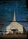 Rural church with grunge effects Royalty Free Stock Photos