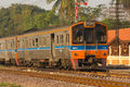 Rural Commuter Train No.403 from Phitsanulok to Sila-At Royalty Free Stock Photo