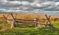 Rural Cornfield In Autumn