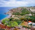 Rural Crete - Coastal Road to Kapsa Monestary 2 Royalty Free Stock Photo