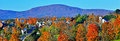 Rural Danville Vermont tucked away in the colorful green mountains HDR. Royalty Free Stock Photo