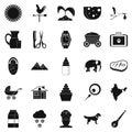 Rural economy icons set, simple style Royalty Free Stock Photo