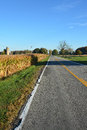 Rural farm road country two lane Stock Images
