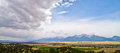 Rural Farming Valley in Colorado Stock Image