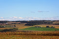 Rural farmland a view of vast in new york Royalty Free Stock Photos