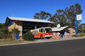 Rural fire service regentville fire station australia october cumberland zone headquarters located at the base of the blue Royalty Free Stock Image