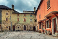 Rural house and courtyard typical italian Royalty Free Stock Images