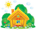 Rural House in Fairyland Royalty Free Stock Images