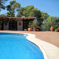 Rural House with swimming pool Royalty Free Stock Photo
