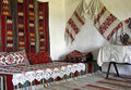 Interior of traditional country house Romania Royalty Free Stock Photo