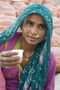 Rural lady taking Tea Stock Images