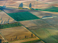 Rural landscape with acre from hot air balloon in frankfurt Royalty Free Stock Images