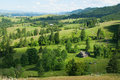 Rural landscape in carpathian mountains ukraine Royalty Free Stock Photos