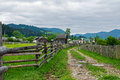 Rural landscape with a dirt road Royalty Free Stock Photo