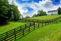 Rural landscape farmhouse Royalty Free Stock Photo