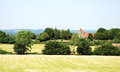 Rural landscape with historic church in Kent, England Royalty Free Stock Photo