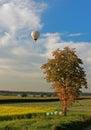 Rural Landscape And Hotair Bal...