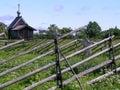 Rural landscape, Kizhi Royalty Free Stock Photo