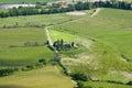Rural landscape near montalcino typical italian tuscan Stock Photo