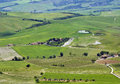 Rural landscape near montalcino typical italian tuscan Stock Photography