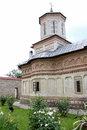 Rural Landscape with old monastery in Romania Royalty Free Stock Photo