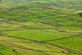Rural landscape terceira island azores typical with lava stone walls on the of Royalty Free Stock Photography