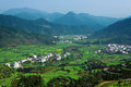 Rural landscape in wuyuan county jiangxi province china Stock Photography