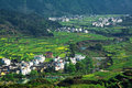 Rural landscape in wuyuan county jiangxi province china Stock Images