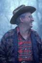 Rural man's profile at Monticello Royalty Free Stock Photography