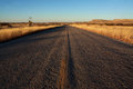 Rural new mexico road near carlsbad Royalty Free Stock Images