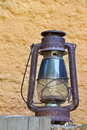 Rural oil lamp in the countryhouse photo of Stock Photo