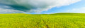 Rural panoramic background rolling hill and green fields landscape tuscany italy cloudy sky crete senesi Royalty Free Stock Photos