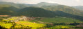 Rural panoramic view in Spanish Pyrenees Stock Photo