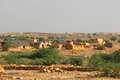 Rural poverty in jaisalmer of india Royalty Free Stock Image