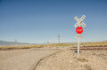 Rural Railroad Crossing Signs Royalty Free Stock Photo