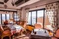 Rural restaurant with sea views in majorca spain Royalty Free Stock Photos