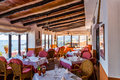 Rural restaurant with sea views in majorca spain Royalty Free Stock Photography