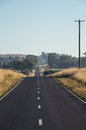 Rural road in Dookie in the Goulburn Valley, Australia Royalty Free Stock Photo