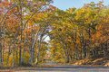 Rural Road in the Fall Royalty Free Stock Photo