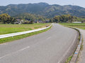 Rural road in japan fukuoka Royalty Free Stock Image