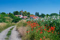 Rural road to beautiful czech village Royalty Free Stock Photo